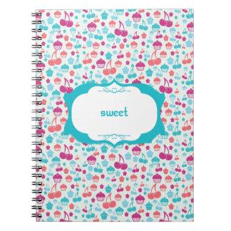 Cerezas y magdalenas, cuaderno espiral dulce