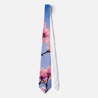Cerezo florecido corbatas
