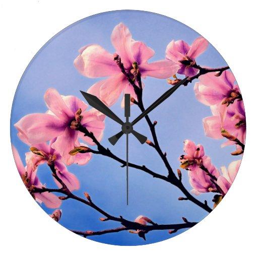 Cerezo florecido relojes