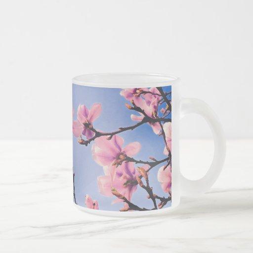 Cerezo florecido tazas de café