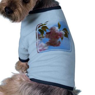 Cerezo floreciente rosado camisetas de perrito