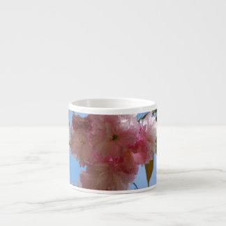 Cerezo floreciente rosado tazitas espresso