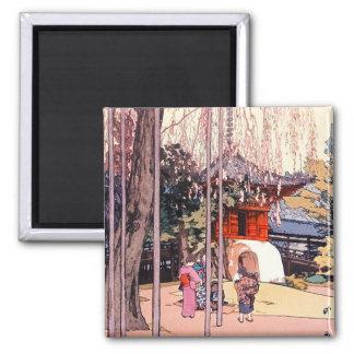 Cerezo japonés fresco en el arte de Kawagoe Imán Cuadrado