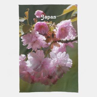 Cerezo japonés toallas de mano