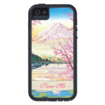 Cerezo oriental fresco de la primavera de Fuji del iPhone 5 Case-Mate Carcasas