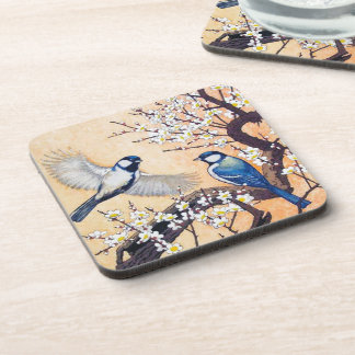 Cerezo oriental fresco de los pájaros de Yoshida d Posavasos De Bebida