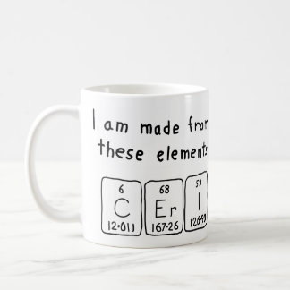 Ceri periodic table name mug