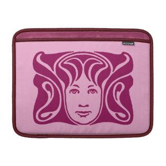 Cerise femenino de la cara de la diosa romana de N Funda MacBook