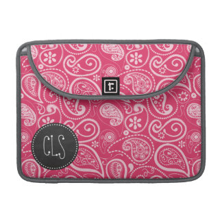 Cerise Paisley; Floral; Retro Chalkboard Sleeves For MacBook Pro