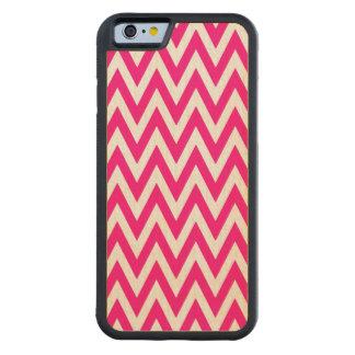 Cerise Pink Chevrons Cherry Wood Iphone 6 Case