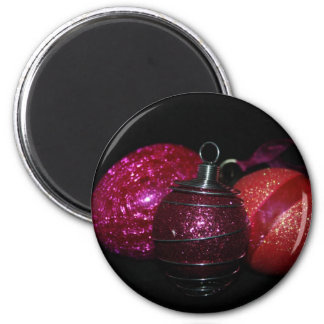 Cerise Pink Glass Bauble Magnet