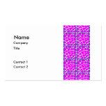 Cerise Pink Pattern Business Cards