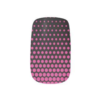 Cerise Polka Dots Modern Black Minx® Nail Wraps