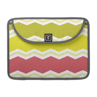 Cerise Red, Citrine, Yellow Chevron Stripes Sleeve For MacBook Pro