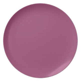 Cerise, Rich Deep Pink Casted Red Background. Chic Dinner Plate
