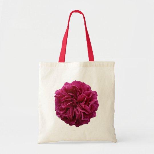 Cerise Rose Tote Bag