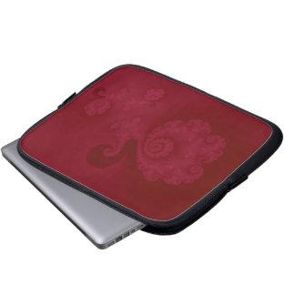 Cerise Spiral Laptop Sleeve