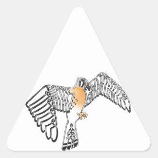 Cernícalo Pegatina Triangular