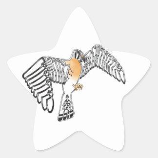 Cernícalo Pegatina En Forma De Estrella