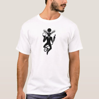 Cernunnos Black on White T-Shirt