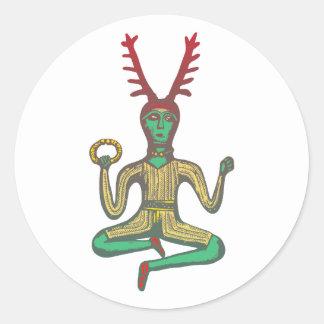 Cernunnos Celtic God celtic god Classic Round Sticker