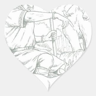 Cernunnos Heart Sticker
