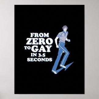 CERO AL GAY EN 3 SEGUNDOS - POSTERS