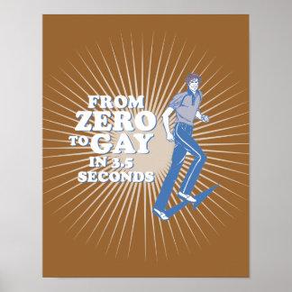 CERO AL GAY EN 3 SEGUNDOS - POSTER