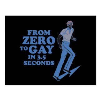 CERO AL GAY EN 3 SEGUNDOS TARJETAS POSTALES