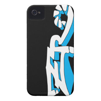 Cero Ebony (Cyan) iPhone Case