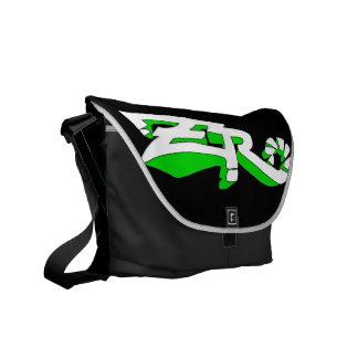 Cero Ebony (Lime) Messenger Bag