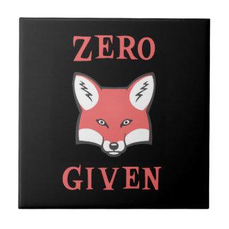 Cero (Fox) dado Azulejo Cuadrado Pequeño