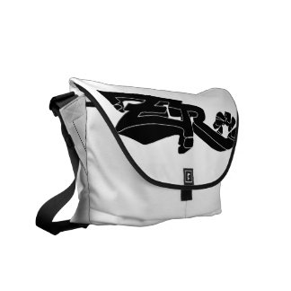 Cero Ivory (Black) Messenger Bag