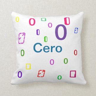 Cero Pillow - Decorative Numbers Pillow 3