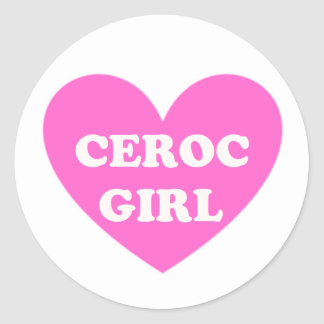 Ceroc Girl Classic Round Sticker