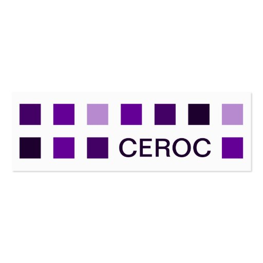 CEROC (mod squares) Double-Sided Mini Business Cards (Pack Of 20)