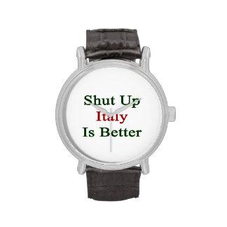 Cerrada Italia es mejor Relojes De Mano