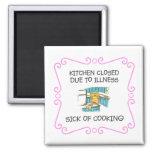 Cerrado de la cocina debido al enfermo de cocinar