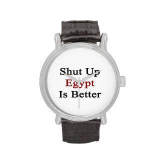 Cerrado Egipto es mejor