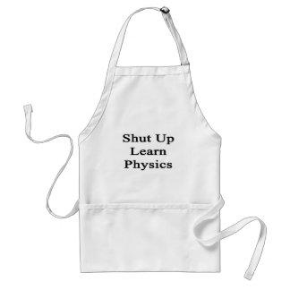 Cerrado para arriba aprenda la física delantal
