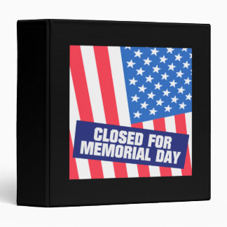 """Cerrado para el Memorial Day Carpeta 1 1/2"""""""