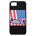 Cerrado para el Memorial Day iPhone 5 Case-Mate Cárcasas