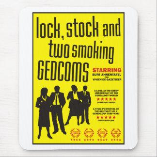 Cerradura, acción y dos GEDCOMs que fuma Alfombrillas De Ratones