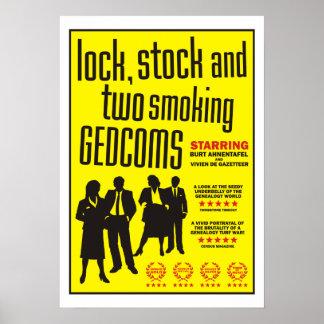 Cerradura acción y dos GEDCOMs que fuma Poster
