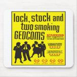 Cerradura, acción y dos GEDCOMs que fuma Tapetes De Raton
