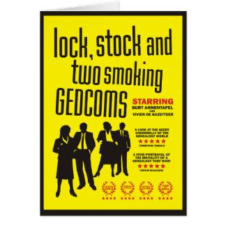 Cerradura, acción y dos GEDCOMs que fuma Tarjeta De Felicitación