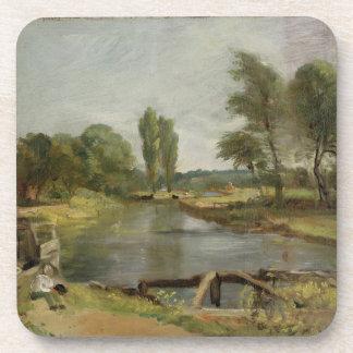 Cerradura de Flatford, 1810-11 (aceite en el docum Posavaso