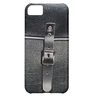 Cerradura de la correa de cuero del vintage funda para iPhone 5C
