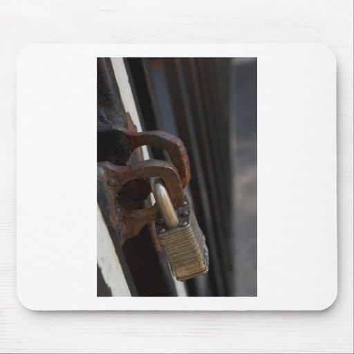 Cerradura de la puerta alfombrillas de ratón