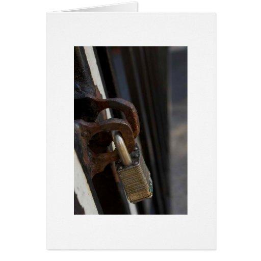 Cerradura de la puerta tarjeta de felicitación